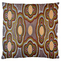 Aborigianal Austrialian Contemporary Aboriginal Flower Large Cushion Case (one Side)