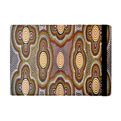 Aborigianal Austrialian Contemporary Aboriginal Flower Apple Ipad Mini Flip Case by Jojostore