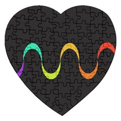 Artwork Simple Minimalism Colorful Jigsaw Puzzle (heart) by Jojostore