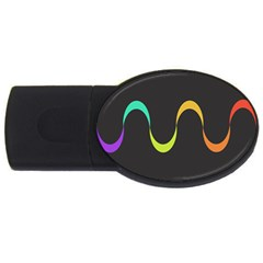 Artwork Simple Minimalism Colorful Usb Flash Drive Oval (4 Gb)