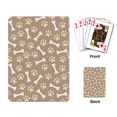 Background Bones Small Footprints Brown Playing Card by Jojostore