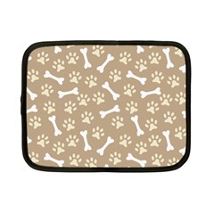 Background Bones Small Footprints Brown Netbook Case (small)