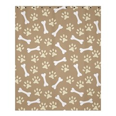 Background Bones Small Footprints Brown Shower Curtain 60  X 72  (medium)  by Jojostore