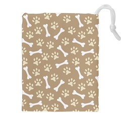 Background Bones Small Footprints Brown Drawstring Pouches (xxl) by Jojostore