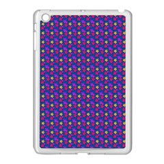 Beach Blue High Quality Seamless Pattern Purple Red Yrllow Flower Floral Apple Ipad Mini Case (white) by Jojostore