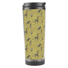Animals Deer Owl Bird Grey Travel Tumbler