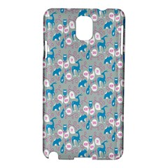 Animals Deer Owl Bird Bear Grey Blue Samsung Galaxy Note 3 N9005 Hardshell Case