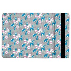 Animals Deer Owl Bird Bear Grey Blue Ipad Air 2 Flip by Jojostore