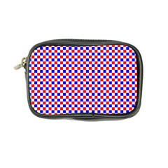 Blue Red Checkered Plaid Coin Purse by Jojostore