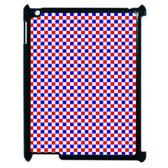 Blue Red Checkered Plaid Apple Ipad 2 Case (black) by Jojostore