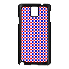 Blue Red Checkered Plaid Samsung Galaxy Note 3 N9005 Case (black) by Jojostore