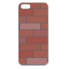 Brick Stone Brown Apple Seamless Iphone 5 Case (clear) by Jojostore
