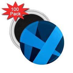 Blue Flag 2 25  Magnets (100 Pack)  by Jojostore