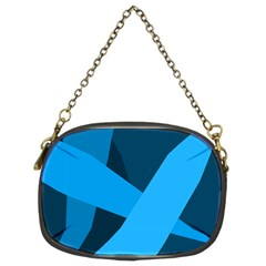 Blue Flag Chain Purses (two Sides)