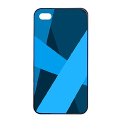 Blue Flag Apple Iphone 4/4s Seamless Case (black) by Jojostore