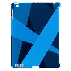 Blue Flag Apple Ipad 3/4 Hardshell Case (compatible With Smart Cover)