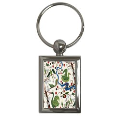 Bird Green Swan Key Chains (rectangle)