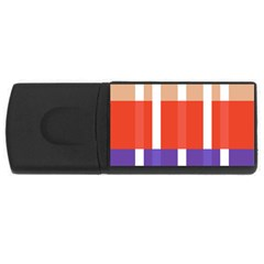 Compound Grid Flag Purple Red Brown Usb Flash Drive Rectangular (4 Gb) by Jojostore