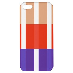 Compound Grid Flag Purple Red Brown Apple Iphone 5 Hardshell Case by Jojostore