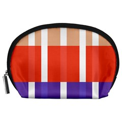 Compound Grid Flag Purple Red Brown Accessory Pouches (large)