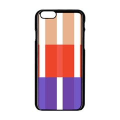 Compound Grid Flag Purple Red Brown Apple Iphone 6/6s Black Enamel Case by Jojostore
