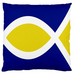 Flag Blue Yellow White Large Cushion Case (two Sides) by Jojostore