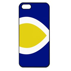 Flag Blue Yellow White Apple Iphone 5 Seamless Case (black)