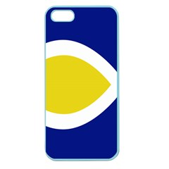 Flag Blue Yellow White Apple Seamless Iphone 5 Case (color)