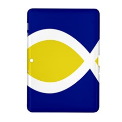 Flag Blue Yellow White Samsung Galaxy Tab 2 (10 1 ) P5100 Hardshell Case  by Jojostore