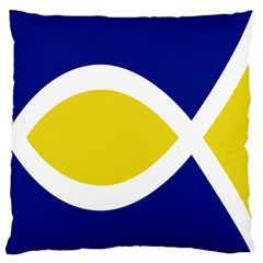 Flag Blue Yellow White Standard Flano Cushion Case (one Side) by Jojostore