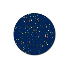 Christmas Sky Happy Magnet 3  (round) by Jojostore