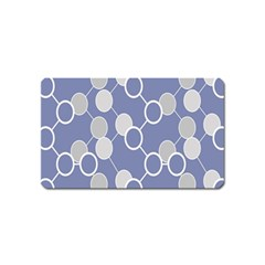 Circle Blue Line Grey Magnet (name Card)