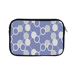 Circle Blue Line Grey Apple Ipad Mini Zipper Cases by Jojostore