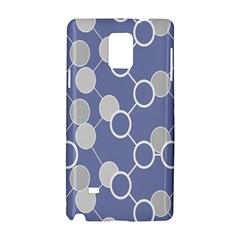Circle Blue Line Grey Samsung Galaxy Note 4 Hardshell Case