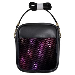 Fabulous Purple Pattern Wallpaper Girls Sling Bags
