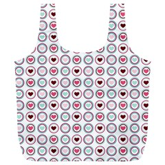 Circle Love Heart Purple Pink Blue Full Print Recycle Bags (l)  by Jojostore