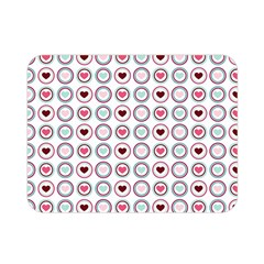 Circle Love Heart Purple Pink Blue Double Sided Flano Blanket (mini)  by Jojostore