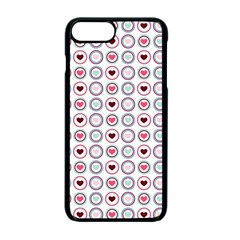 Circle Love Heart Purple Pink Blue Apple Iphone 7 Plus Seamless Case (black)