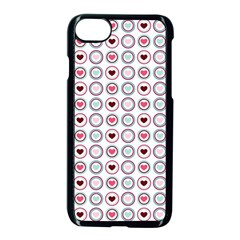 Circle Love Heart Purple Pink Blue Apple Iphone 7 Seamless Case (black)