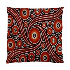 Circle Flower Art Aboriginal Brown Standard Cushion Case (two Sides) by Jojostore