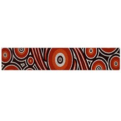 Circle Flower Art Aboriginal Brown Flano Scarf (large) by Jojostore