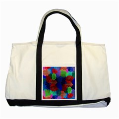Floral Flower Rainbow Color Two Tone Tote Bag by Jojostore