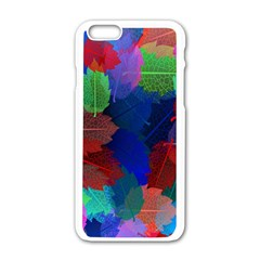Floral Flower Rainbow Color Apple Iphone 6/6s White Enamel Case by Jojostore