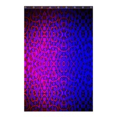 Geometri Purple Pink Blue Shape Pattern Flower Shower Curtain 48  X 72  (small)  by Jojostore