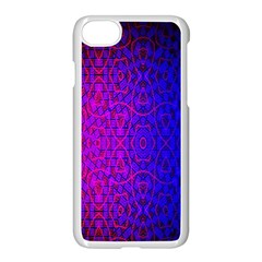 Geometri Purple Pink Blue Shape Pattern Flower Apple Iphone 7 Seamless Case (white) by Jojostore