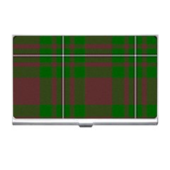 Cardney Tartan Fabric Colour Green Business Card Holders by Jojostore