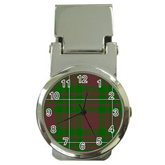 Cardney Tartan Fabric Colour Green Money Clip Watches