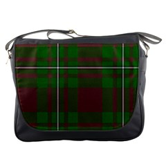 Cardney Tartan Fabric Colour Green Messenger Bags by Jojostore