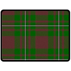 Cardney Tartan Fabric Colour Green Double Sided Fleece Blanket (large)  by Jojostore