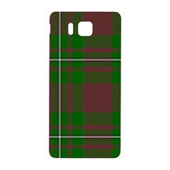 Cardney Tartan Fabric Colour Green Samsung Galaxy Alpha Hardshell Back Case by Jojostore